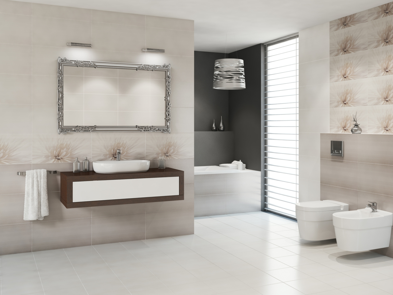 Avangarde tile collection - grey bathroom tiles