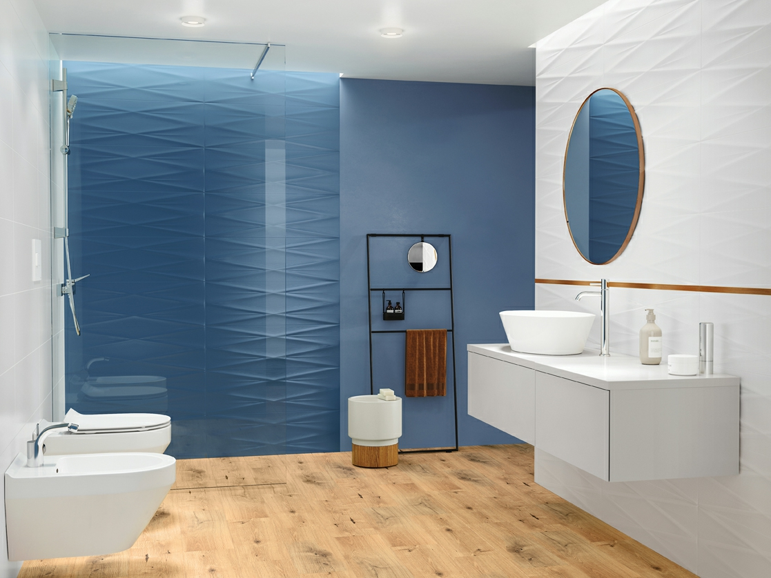 GRAVITY Collection - blue bathroom tiles