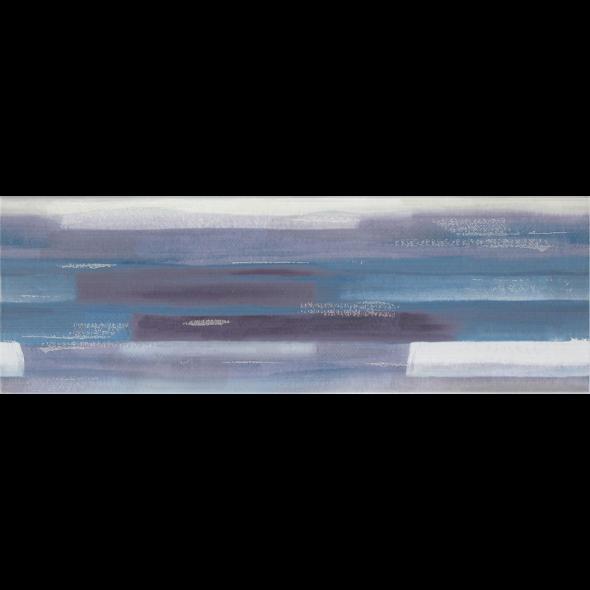 Artistico Blue Inserto Geo decorative tile, 10 x 29.5 inches