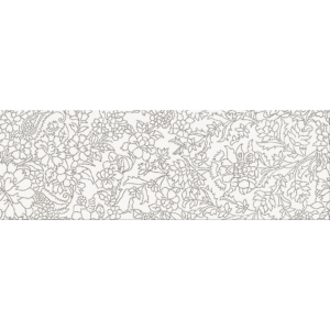 Pret-à-Porter White Inserto Flower decorative wall tile