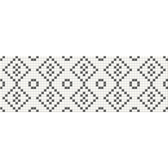 Pret-à-Porter Black & White Mosaic decorative wall tile