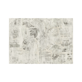 Newspaper decorative wall panels