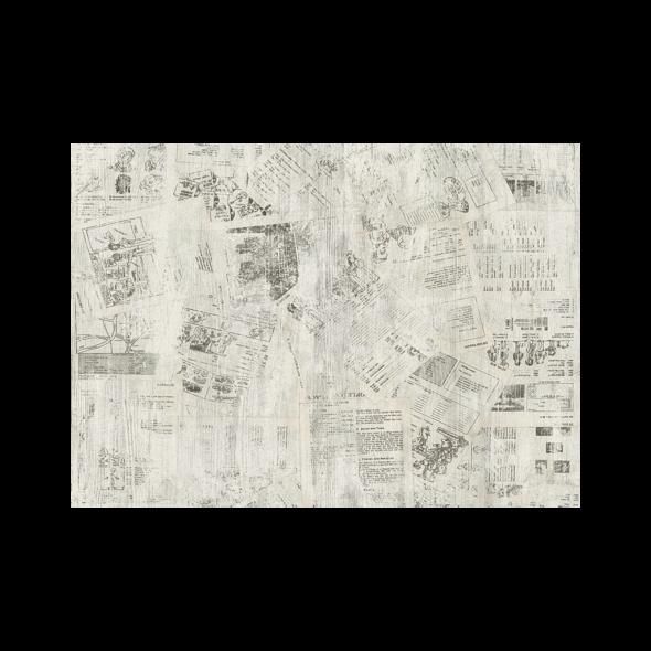 Newspaper decorative wall panels