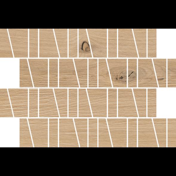 Kavir Sandwood Beige Trapeze Mosaic Matt tile